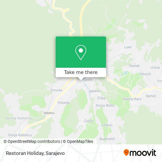 Restoran Holiday map