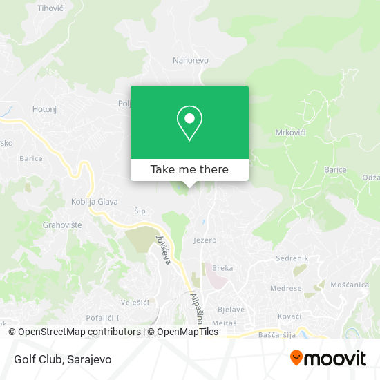 Golf Club map