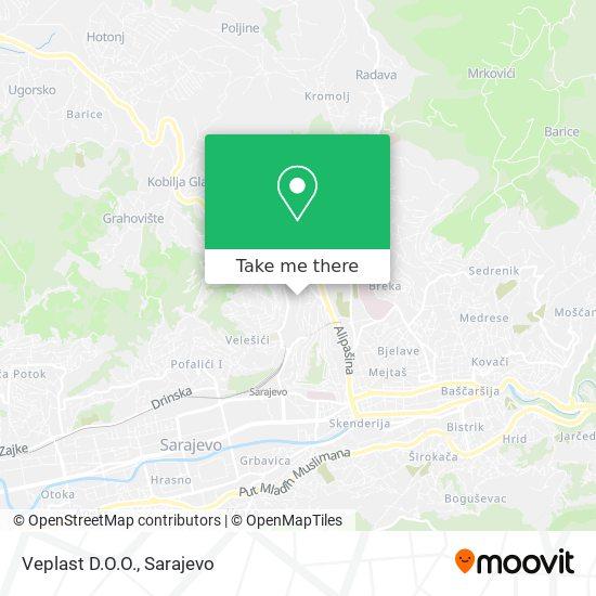 Veplast D.O.O. map