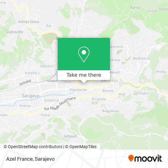 Azel France map