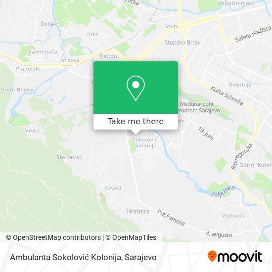 Ambulanta Sokolović Kolonija map