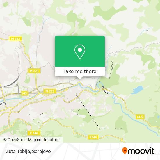 Žuta Tabija map