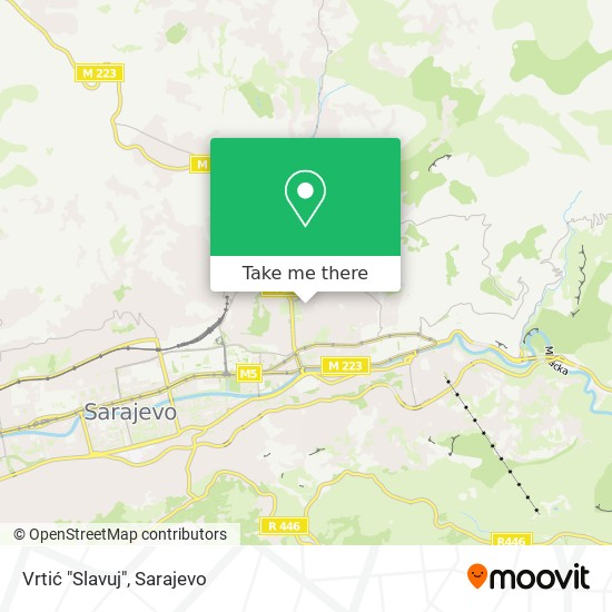 """Vrtić """"Slavuj"""" map"""