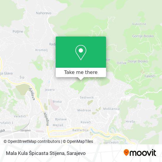 Mala Kula Grdonj map
