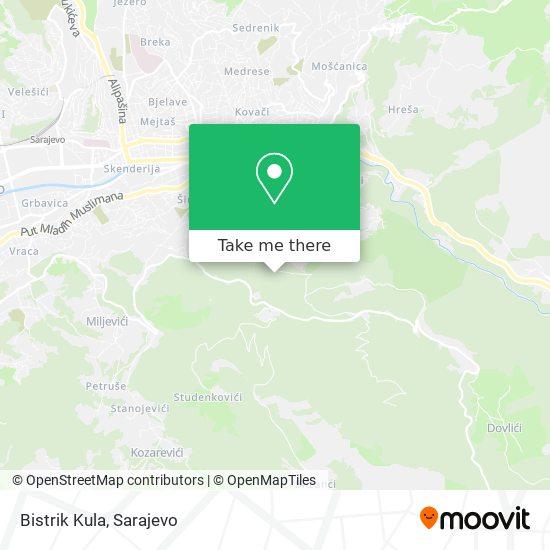 Bistrik Kula map