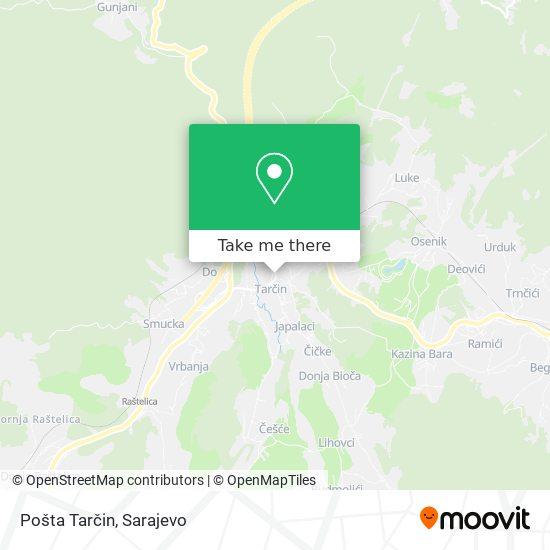 Pošta Tarčin map