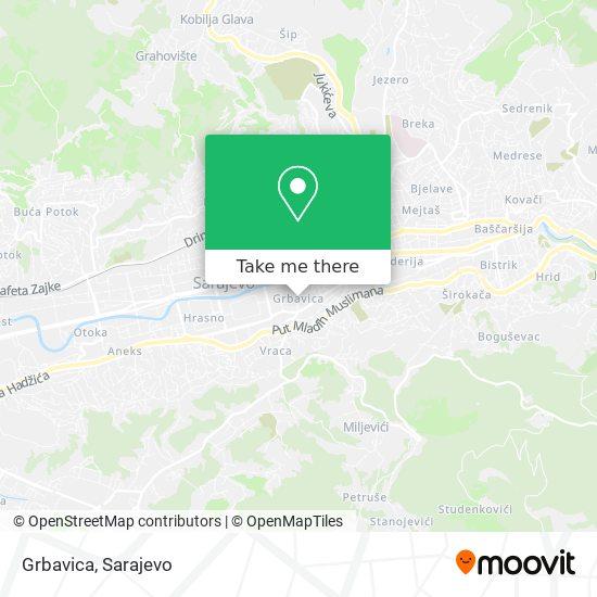 Grbavica map