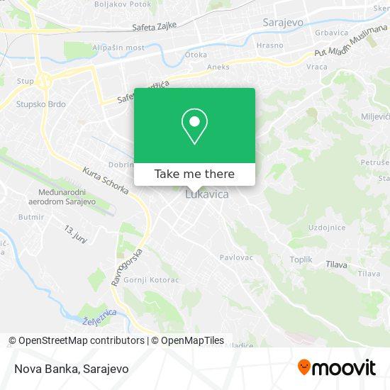 Nova Banka map
