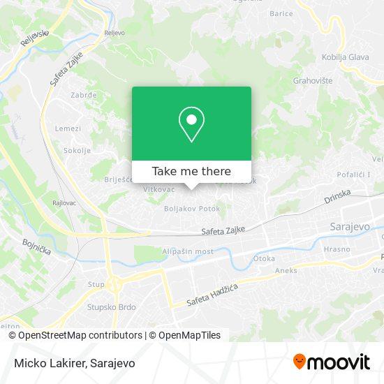 Micko Lakirer map