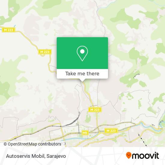 Autoservis Mobil map