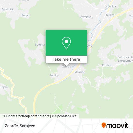 Zabrđe map