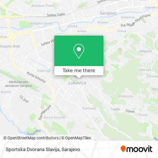 Sportska Dvorana Slavija map