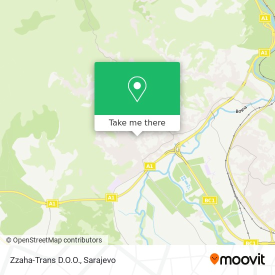 Zzaha-Trans D.O.O. map