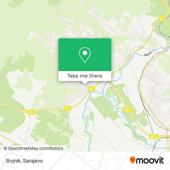 Bojnik map