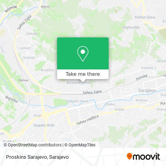 Proskins Sarajevo - Tapaciranje Auto Enterijera map