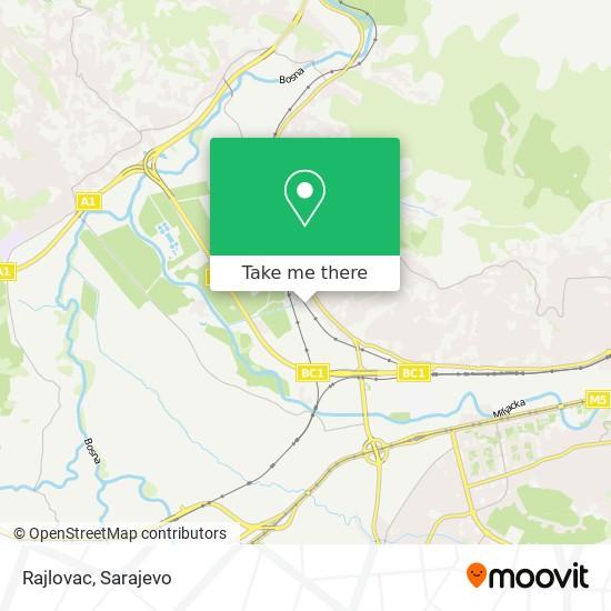 Rajlovac map
