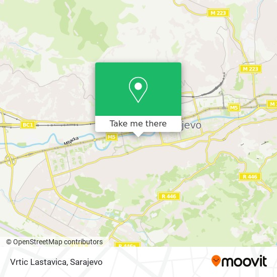 Vrtic Lastavica map