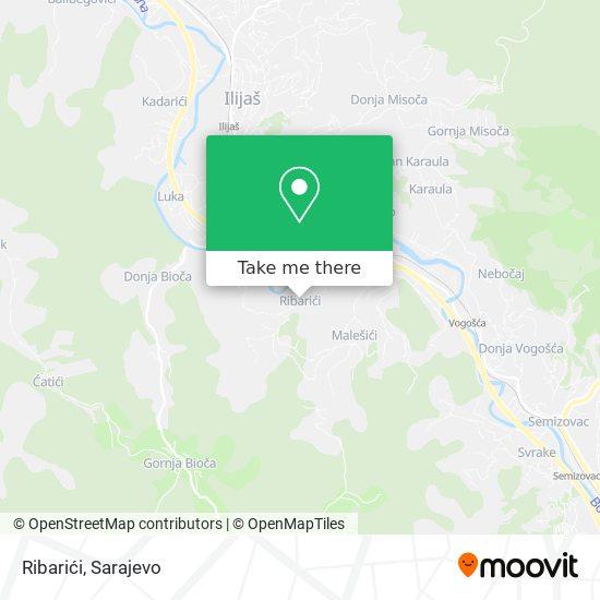 Ribarići map