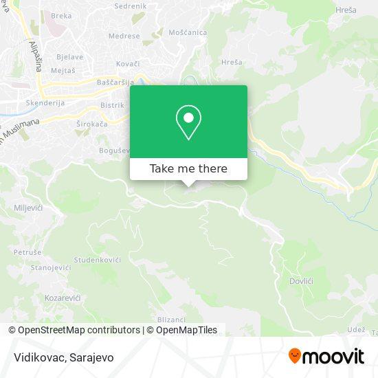 Vidikovac map