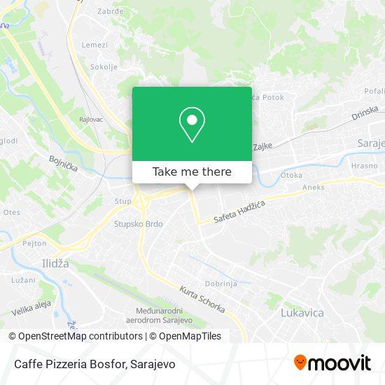 Caffe Pizzeria Bosfor map