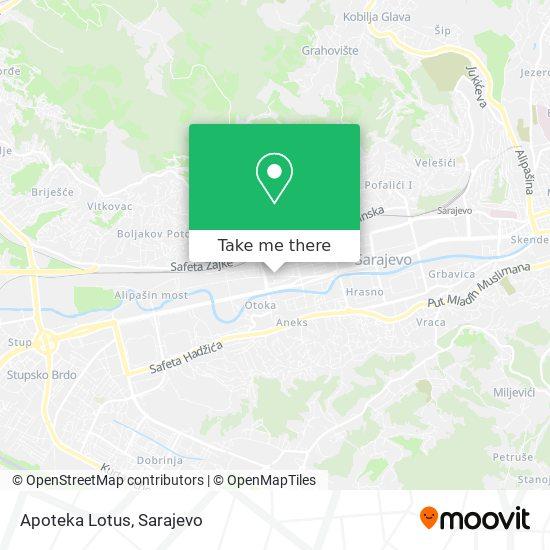 Apoteka Lotus map