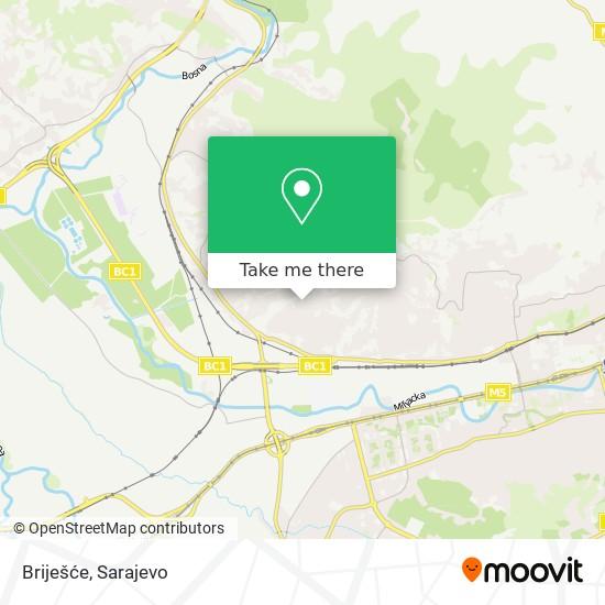 Briješće map