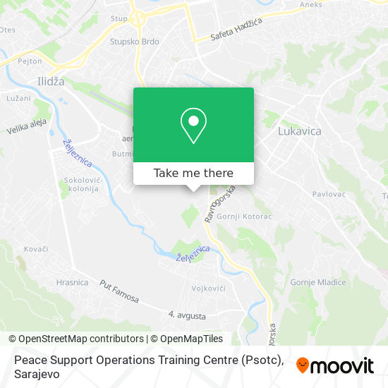 Peace Support Operations Training Centre (Psotc) map