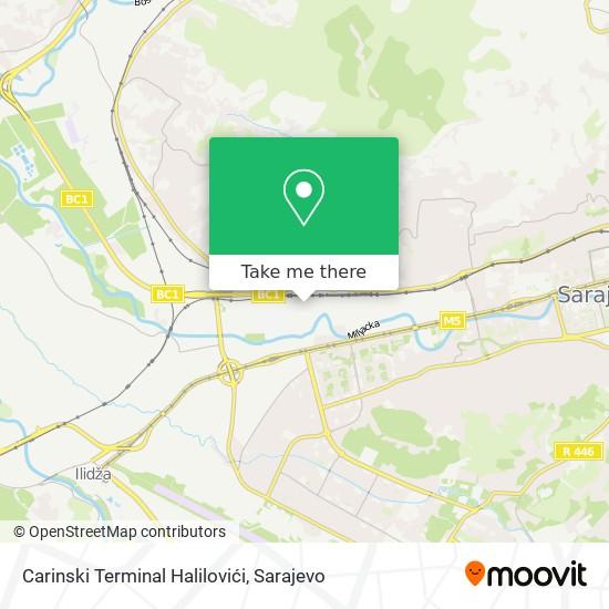 Carinski Terminal Halilovići map