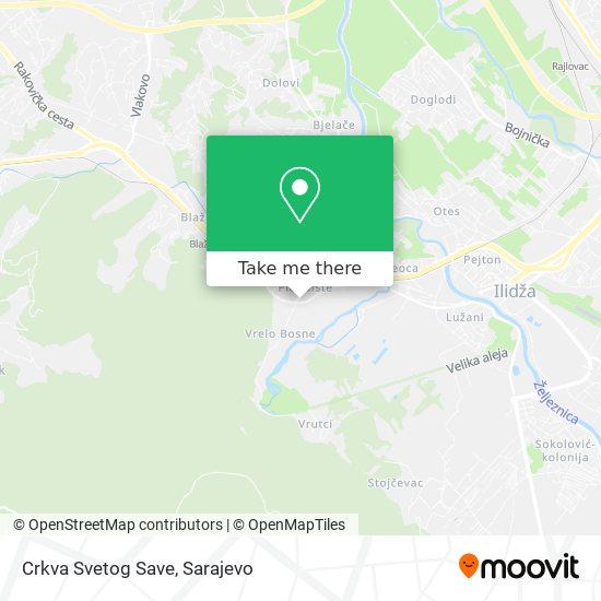 Crkva Svetog Save map