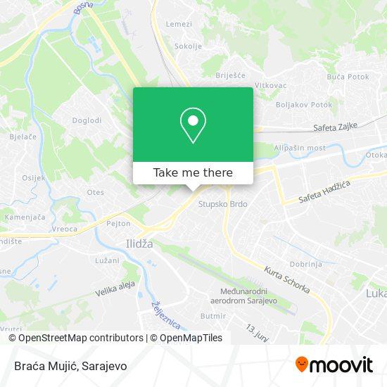 Braća Mujić map