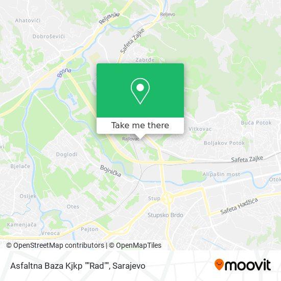"""Asfaltna Baza  Kjkp """"Rad"""" map"""