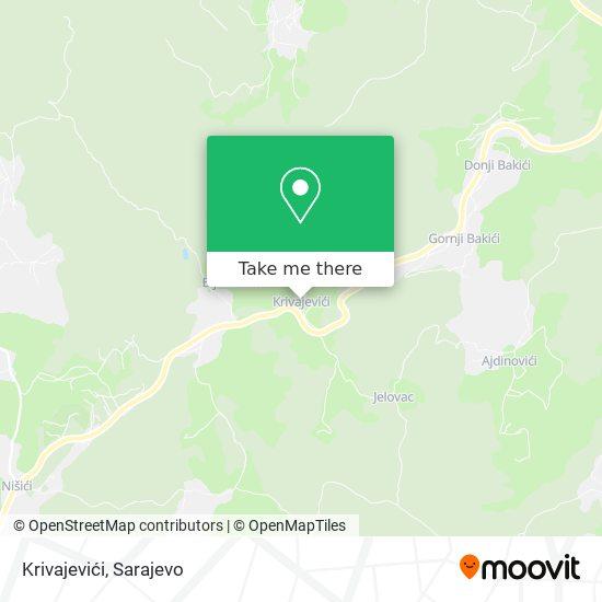 Krivajevići map