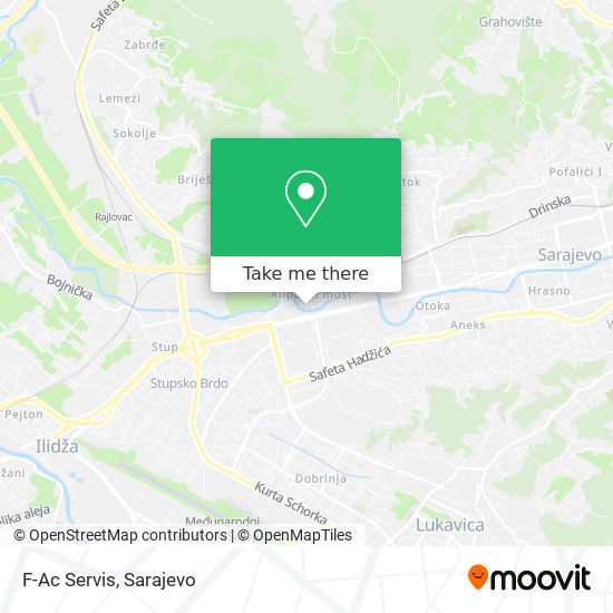 F-Ac Servis map