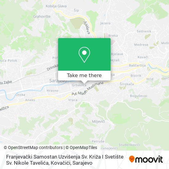 Franjevački Samostan Kovačići map