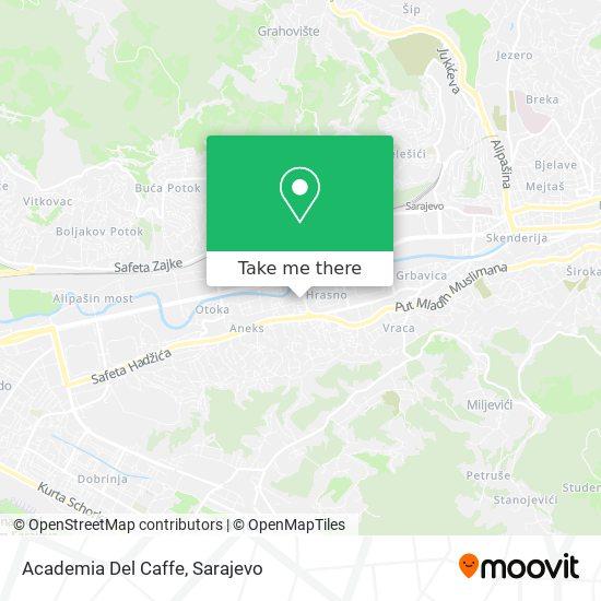 Academia Del Caffe map