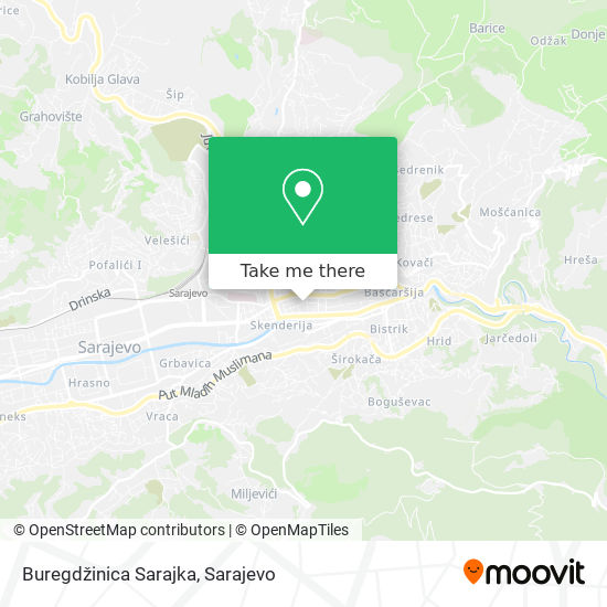 Buregdžinica Sarajka map