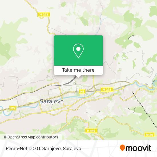 Recro-Net D.O.O. Sarajevo map