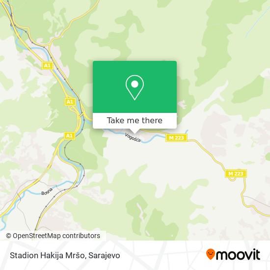 Stadion Hakija Mršo map