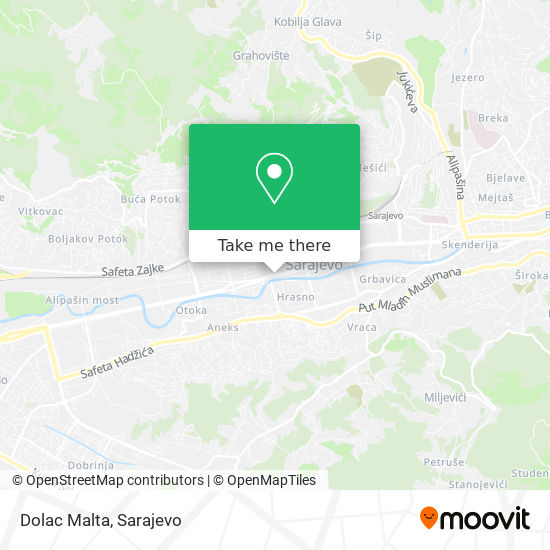 Dolac Malta map