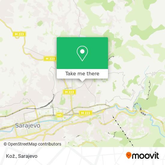Kož. map