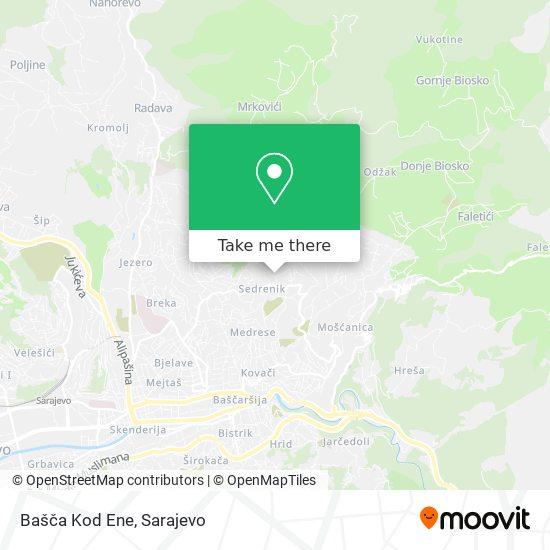 Bašča Kod Ene map