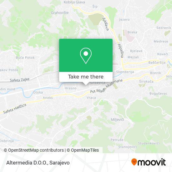 Altermedia D.O.O. Marketing Agencija map