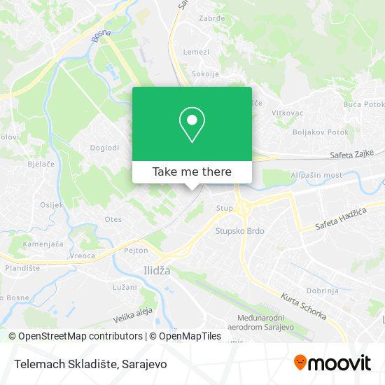 Telemach Skladište map