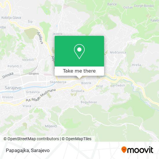 Papagajka map