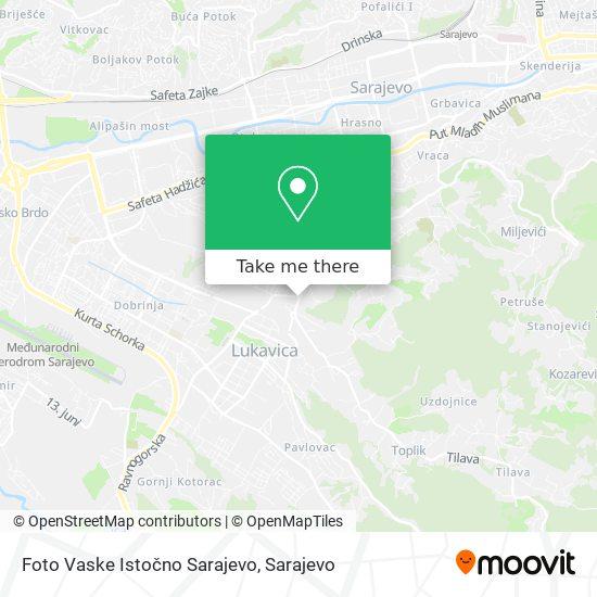 Foto Vaske Istočno Sarajevo map