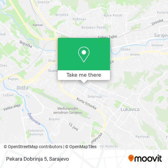 Pekara Dobrinja 5 map