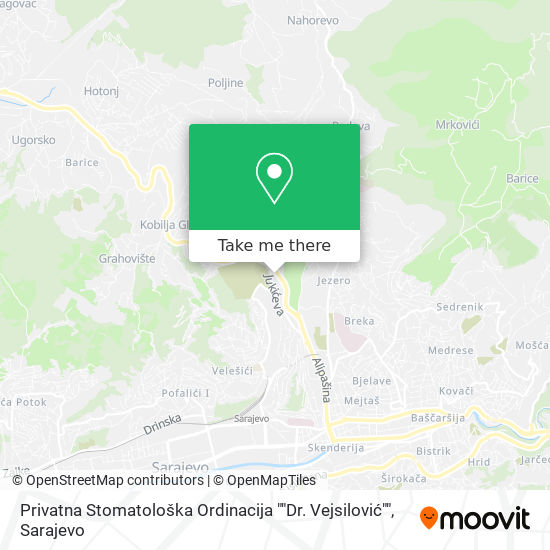 """Privatna Stomatološka Ordinacija """"Dr. Vejsilović"""" map"""