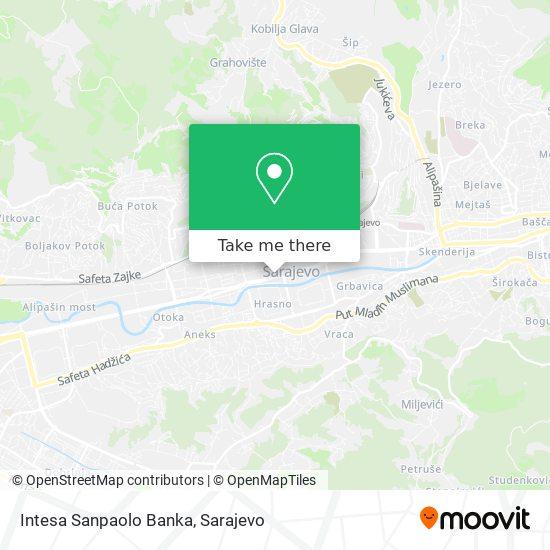 Intesa Sanpaolo Banka map