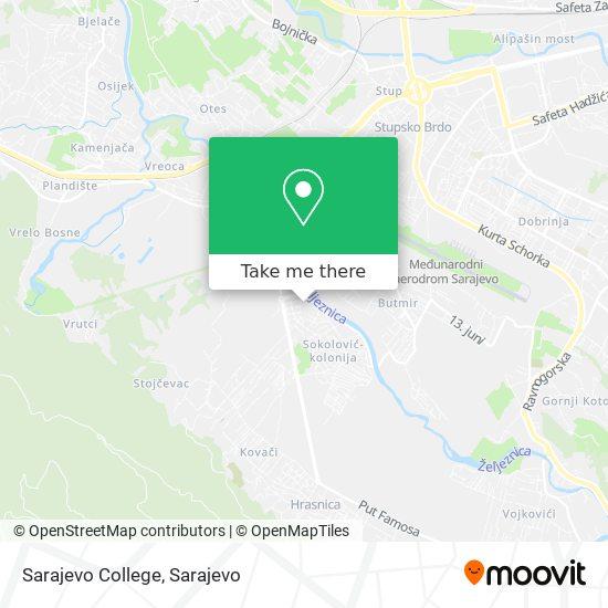 Sarajevo College map