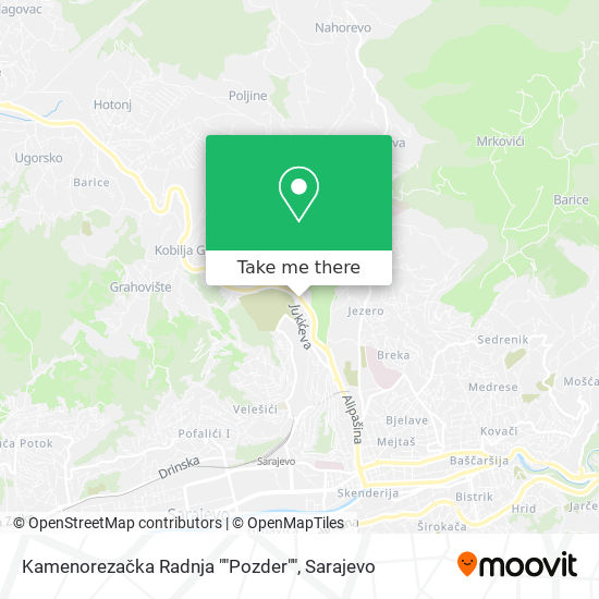 "Kamenorezačka Radnja ""Pozder"" map"